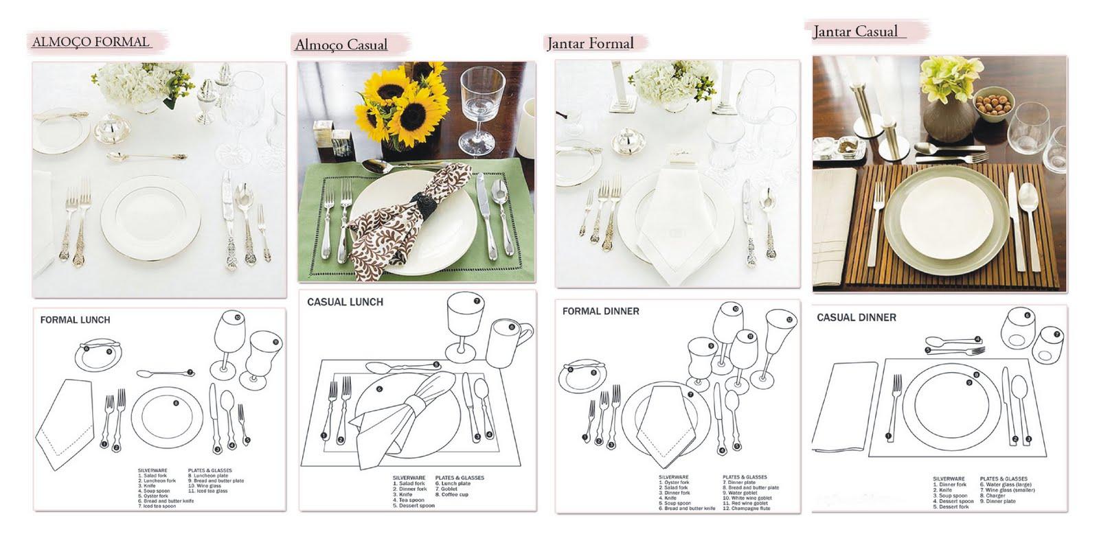 mesaeafins - Sugestões de arrumação de  mesa posta